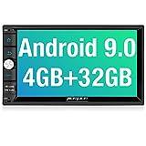 PUMPKIN Android 9.0 Autoradio Moniceiver mit Navi 4GB + 32GB Unterstützt Bluetooth Tethering DAB +...