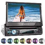 XOMAX XM-D750 Autoradio mit 18 cm / 7' Touchscreen I DVD, CD, USB, AUX I RDS I Bluetooth I...