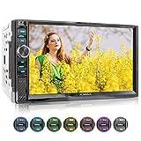 XOMAX XM-2V719 Autoradio mit Mirrorlink für Android, Bluetooth Freisprecheinrichtung, 7 Zoll / 18cm...