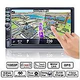 Autoradio GPS Navigation, HALUM Wince 7'' 1080P Touchscreen 2 DIN, Mirrorlink/Bluetooth...