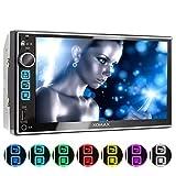 XOMAX XM-2V753 Autoradio mit 7 Zoll / 18cm Touchscreen Bildschirm I Bluetooth Freisprecheinrichtung...