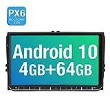 9 Zoll PUMPKIN Android 10 Autoradio für VW Radio Mit Navi 4G+64G Europakarten 2019 Unterstützt...