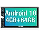 PUMPKIN Android 10 Autoradio mit Navi 4GB+64GB PX6 Unterstützt Qualcomm Bluetooth 5.0 DAB + Android...