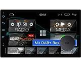 Tristan Auron BT2D7018A Android 10 Autoradio mit Navi + DAB Plus Box I 7 Zoll Touchscreen - GPS...