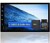 Tristan Auron BT2D7018A Android 10 Autoradio mit Navi + OBD 2 und DAB+ Box I 7' Touchscreen GPS...