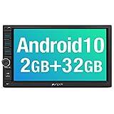 PUMPKIN Android 10 Autoradio Moniceiver 2GB + 32GB mit GPS Navi Unterstützt Bluetooth DAB +...
