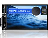 Tristan Auron BT2D7019A Android 10.0 Autoradio mit Navi + OBD 2 DAB+ Box I 7' Touchscreen GPS...
