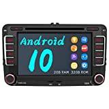 AWESAFE Android 10 Autoradio für VW Skoda Seat, 2 DIN Radio mit Navi 7 Zoll Touchscreen CD DVD...