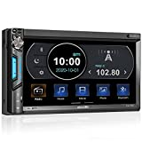 2 DIN Autoradio mit Mirrorlink für IOS/Android, Bluetooth MP5 Multimedia Player, 7 Zoll Touchscreen...
