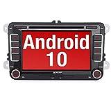 PUMPKIN Android 10 Autoradio für VW Radio mit Navi Unterstützt Bluetooth DAB + CD DVD Android Auto...