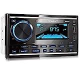 XOMAX XM-2R422 Autoradio mit Bluetooth I RDS I AM, FM I USB, AUX I 7 Beleuchtungsfarben einstellbar...