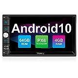 Vanku Android 10 Autoradio mit Navi PX6 64GB+4GB Unterstützt Qualcomm Bluetooth 5.0 DAB + Android...