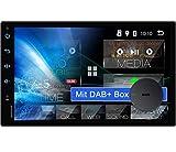 Tristan Auron BT2D7018A Android 10 Autoradio mit Navi + DAB Plus Box I 7' Touchscreen - GPS...