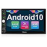 Vanku Android 10 Autoradio Radio mit Navi 64GB + 4GB Unterstützt Qualcomm Bluetooth 5.0 aptX DAB +...