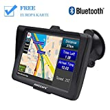 AWESAFE Bluetooth Navigation für Auto LKW PKW GPS Navi 7 Zoll Navigationsgerät, unterstützt...