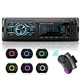 Autoradio mit Bluetooth Freisprecheinrichtung, aktualisierte Version 1 Din Stereo Auto Radio 4 x 60W...