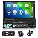 Podofo Autoradio Bluetooth Autoradio mit Freisprecheinrichtung mit Bildschirm AHD...