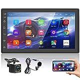 Podofo Autoradio Bluetooth Autoradio mit Navi Android Freisprecheinrichtung Doppel Din mit...