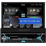 Tristan Auron BT1D7022A Android 10.0 Autoradio + OBD 2 und DAB+ Box I 7'' Touchscreen ausfahrbar I...