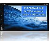 Tristan Auron BT2D7018A-DVD Android 10 Autoradio mit Navi - 7' Touchscreen GPS Bluetooth...