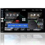 Tristan Auron BT2D7025A Android 10.0 Autoradio mit Navi + OBD 2 und DAB+ Box I 7' Touchscreen GPS...