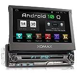 XOMAX XM-DA775 Autoradio mit Android 10, QuadCore, 2GB RAM, 32GB ROM, GPS Navigation, DVD, CD I...