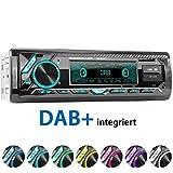 XOMAX XM-RD276 Autoradio mit DAB+ Tuner und Antenne I FM RDS I Bluetooth Freisprecheinrichtung I...