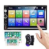 CAMECHO Bluetooth-Autoradio 2 Din 7-Zoll-Touchscreen MP5-Player FM-Radio IOS/Android-Telefon Spiegel...