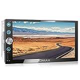 XOMAX XM-2V766 Autoradio mit Mirrorlink, Bluetooth Freisprecheinrichtung, 7 Zoll / 18cm Touchscreen...
