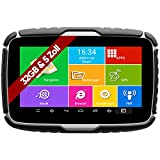 Elebest Navigationsgerät Rider A6+ Navigation für Motorrad und PKW, 5 Zoll Bildschirm Android 6.0...