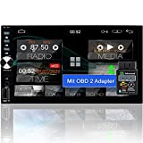 Tristan Auron Android 10 2 Din Autoradio + OBD Adapter I Bluetooth Freisprecheinrichtung I GPS NAVI...