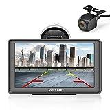 AWESAFE Bluetooth Navigation mit Rückfahrkamera für Auto LKW 7 Zoll Navigationsgeräte, 2020...