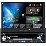 Tristan Auron BT1D7022A Android 10.0 Autoradio I 7'' Touchscreen ausfahrbar I CD DVD GPS Navi 32GB...