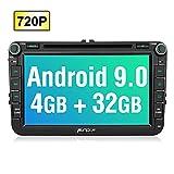 PUMPKIN Android 9.0 Autoradio für VW Radio mit Navi 4GB / 8 Core Unterstützt Bluetooth DAB +...