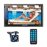 GRUNDIG Doppel DIN Bluetooth Autoradio mit Rückkamera Mikrofon, 7 Zoll Touchscreen Autoradio mit...