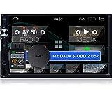 Tristan Auron BT2D7025A Android 10.0 Autoradio + DAB Plus Box OBD 2 Box - 7'' Touchscreen Bildschirm...