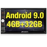 PUMPKIN Android 9.0 Autoradio Radio mit Navi 4GB / 8 Core Unterstützt Bluetooth DAB + Android Auto...