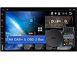 Tristan Auron BT2D7018A-DVD Android 10.0 Autoradio mit Navi + OBD 2 und DAB Plus Box I 7'...