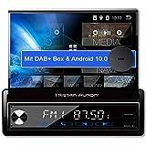 Tristan Auron BT1D7027A Android 10.0 Autoradio + DAB Plus Box I 7'' Touchscreen ausfahrnar I GPS...