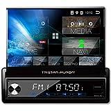 Tristan Auron BT1D7027A Android 10.0 Autoradio - ausfahrbares 7'' Touchscreen Display I GPS Navi I...