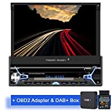 Tristan Auron BT1D7022A Android 9.0 Autoradio + DAB+ Box und OBD 2 Adapter I 7'' Touchscreen...