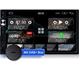 Tristan Auron BT2D7025A Android 10 Autoradio mit Navi + DAB+ Box I 7' Touchscreen GPS Bluetooth...