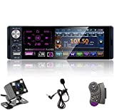 Single Din Auto Stereo Radio, 12V 4,1' Auto MP5 Player mit Bluetooth Audio & Hands-Free Calling, FM...