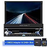 Tristan Auron BT1D7022A Autoradio + DAB+ Box und OBD 2 Adapter I Android 9.0 I 7'' Touchscreen...