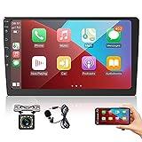 2 Din Autoradio 9 Zoll Touchscreen, Apple CarPlay & Android Auto Universal Car Multimedia Player mit...