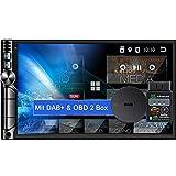 Tristan Auron BT2D7019A Android 10.0 Autoradio mit Navi + OBD 2 DAB Plus Box I 7' Touchscreen GPS...