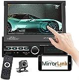 Autoradio 1Din mit Bildschirm - Autoradio Bluetooth mit 7'' HD Faltbar Touchscreen Bluetooth...