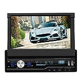 Autoradio Bluetooth 4.0 T100 7 Zoll 2 Din Einziehbarer Auto-Video-Player mit HD Ausfahrbarer...