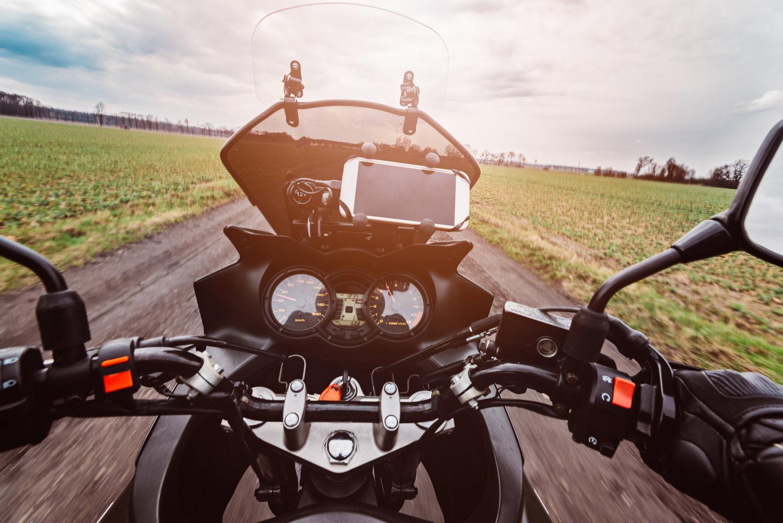 Besondere an einem Motorrad Navi